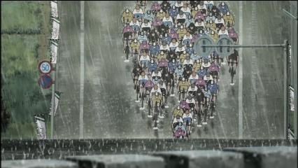 レース集団悪天候