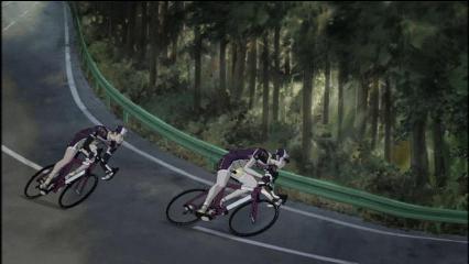 レース追い上げる二人