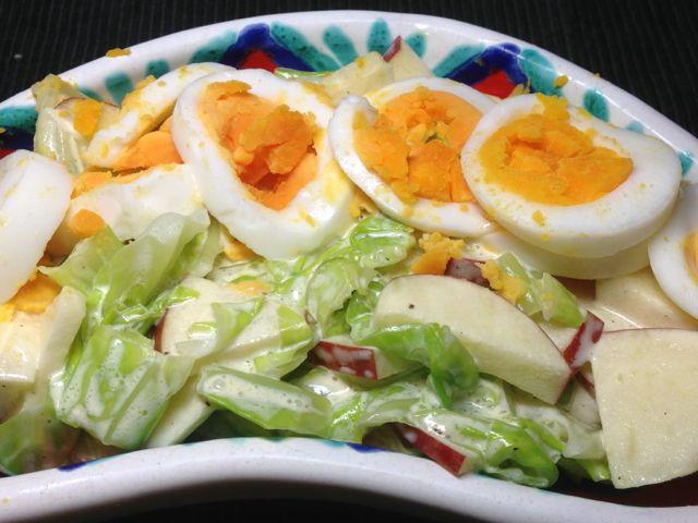 玉子リンゴサラダ