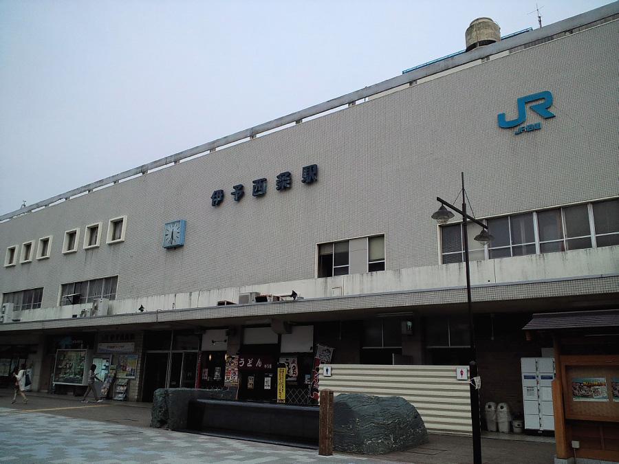 いよいよ帰任♪@伊予西条駅前(by au CASIO CA003)