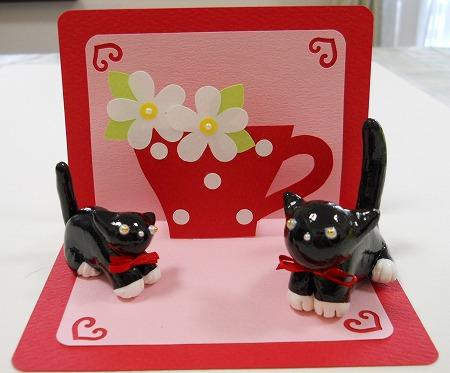 s-赤いカードとネコ