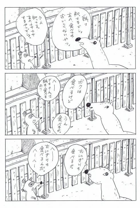 490pxシカとタヌキ5