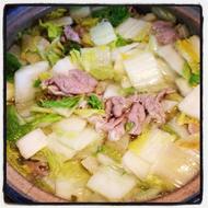 豚肉と白菜鍋