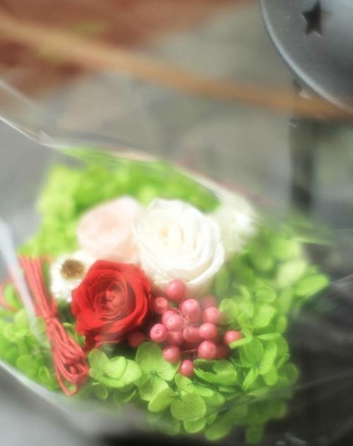 おばあちゃんへお花