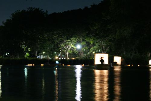 石神井公園 灯籠流し02