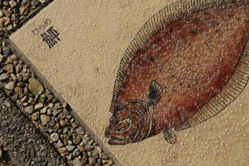 ヒラメ石畳