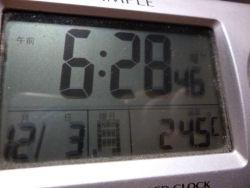 今朝のコタツ内温度