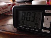 朝の寝室の室温