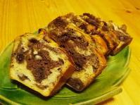 米粉のマーブルバナナケーキ