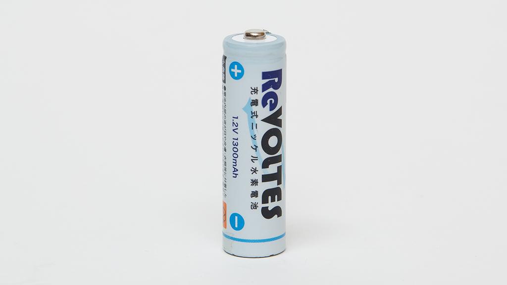 ダイソー充電式ニッケル水素電池(単三)放電容量