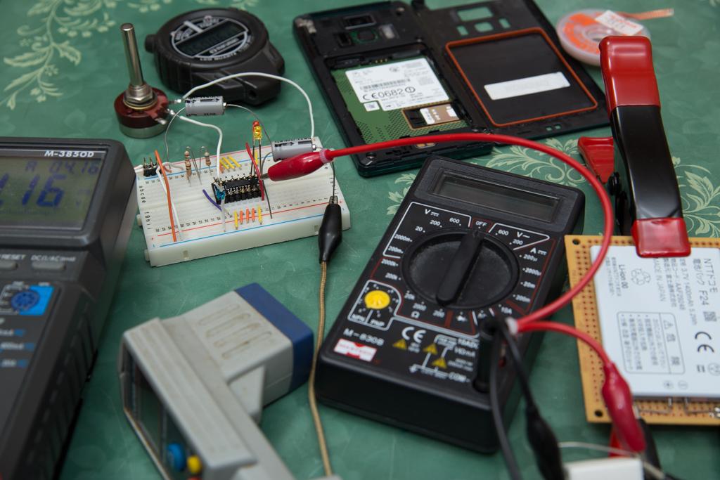 リチューム・イオン電池の充電テスト(MCP73863)