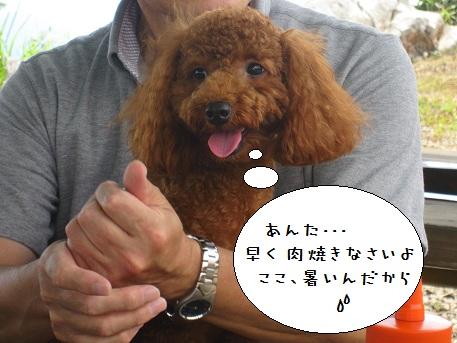 姫鶴荘へおでかけ 4 バーベキューに参加?