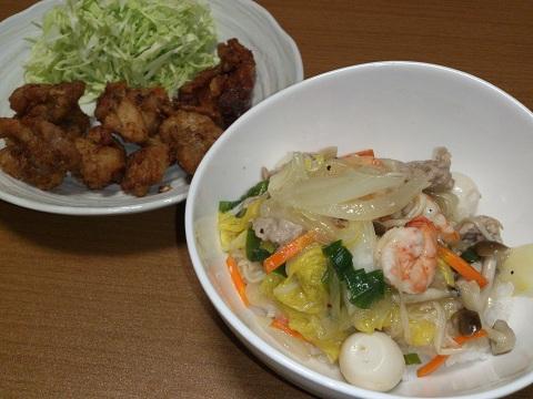 11日 中華丼 から揚げ