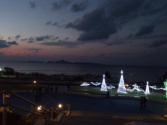 伊江島とイルミネーション