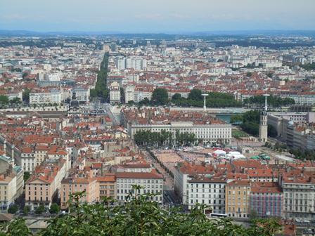 Lyon眺め ベルクール