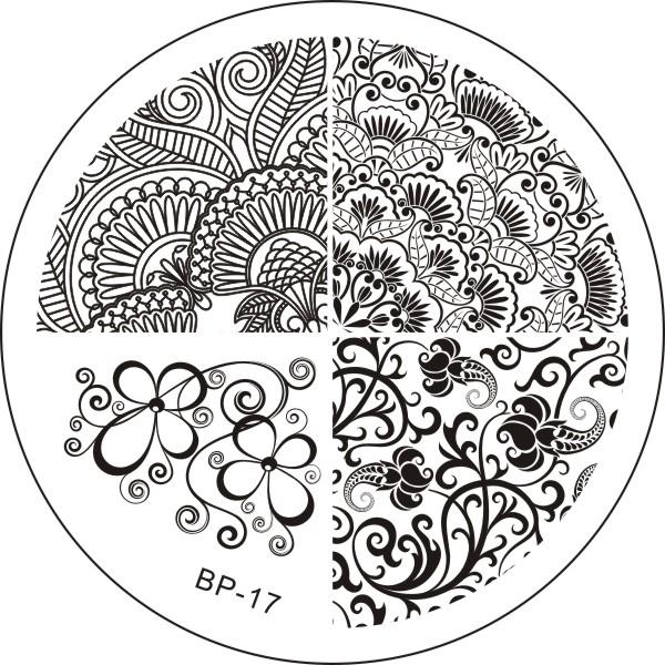 綺麗なレリーフ デザインイメージプレートスタンプネイルアートBPS 17