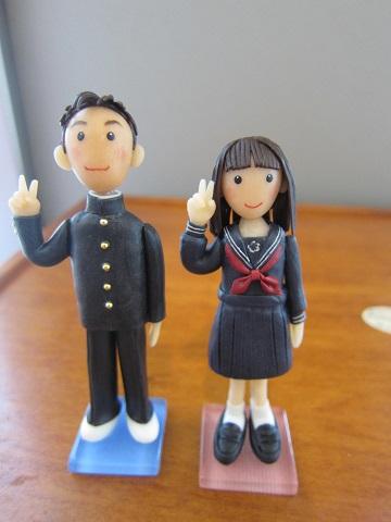 中学生人形