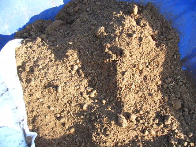 牛糞堆肥投入