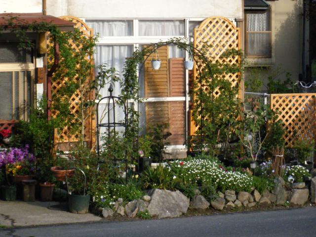 我が家、正面横手の庭