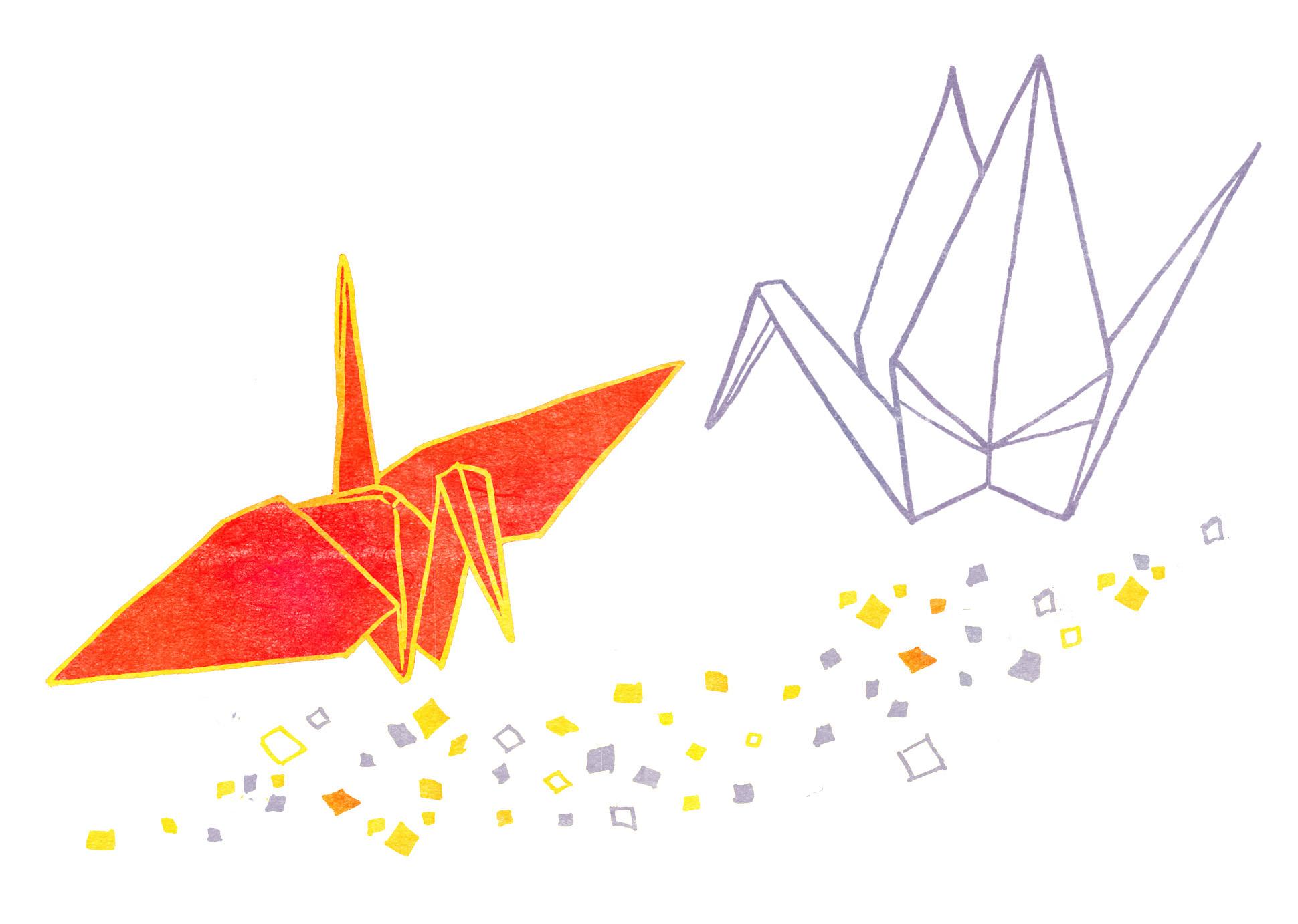 すべての折り紙 折り紙 鶴 画像 : CG - のりみのイラスト ...