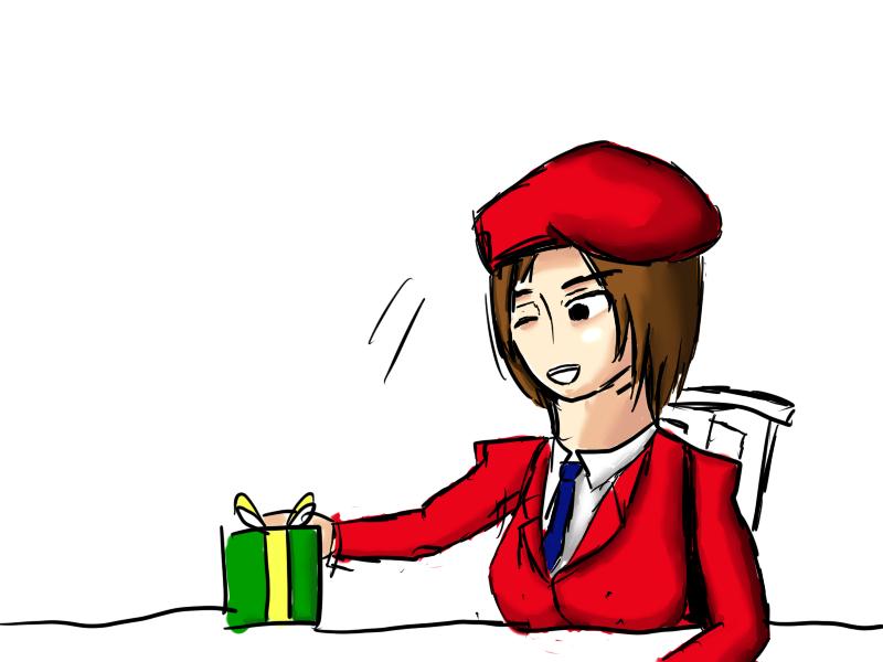 はい、プレゼント