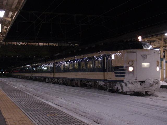 583系 大館駅にて