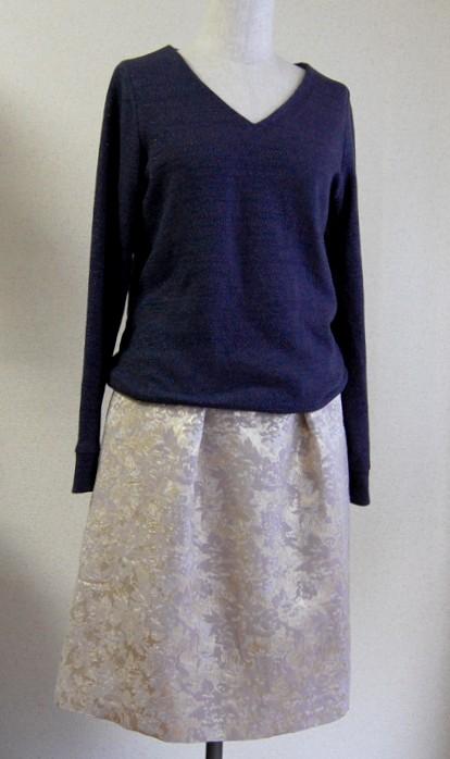 Navy_EdelweissGold 2tuck_skirt
