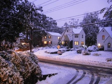 Snow covered Scarsdale