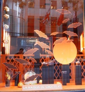 Haloween Display at Maison du Chocolat