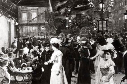 Cafe de la Paix circa 1900