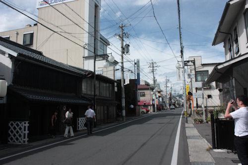レストラン ヒカリヤ 松本市内の街並み