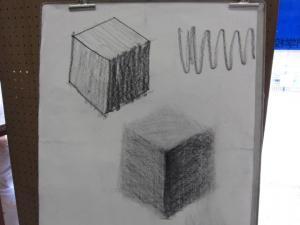 木炭の描写