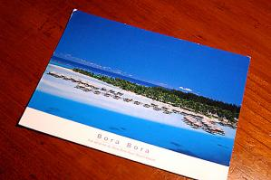 ボラボラ島の絵葉書