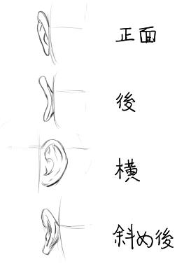 耳の方向別