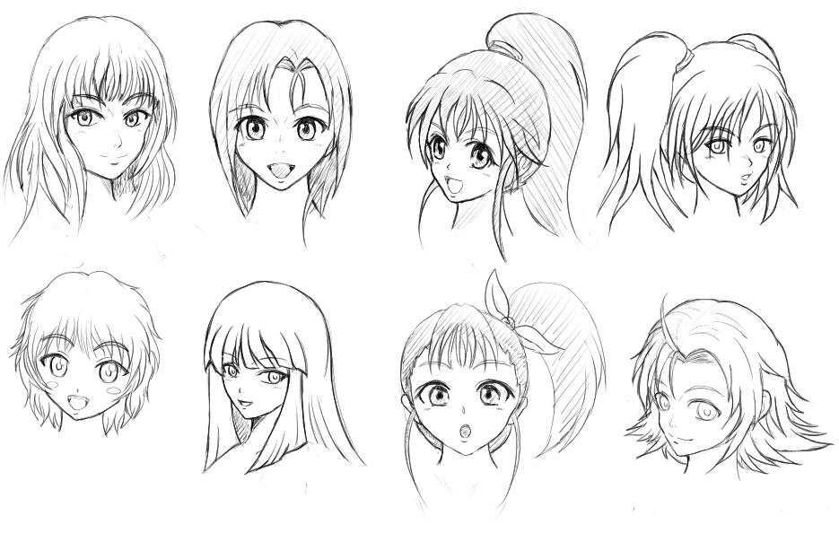 様々な髪の種類