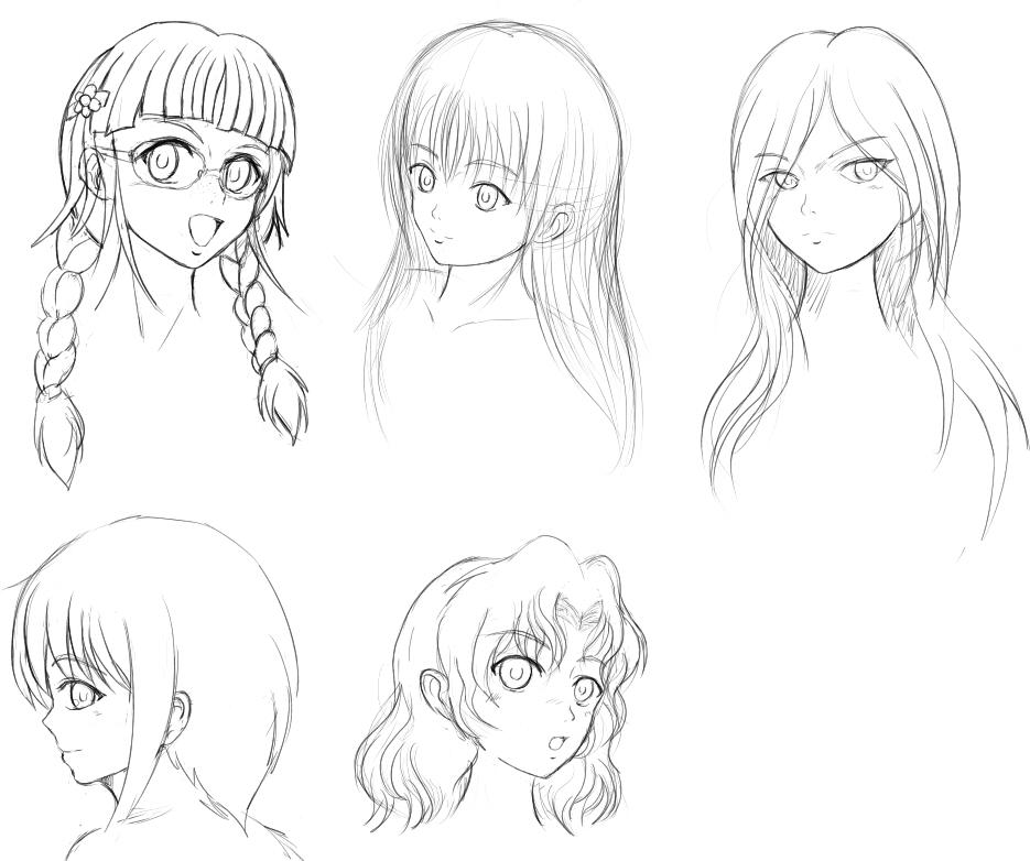 様々な髪の種類2