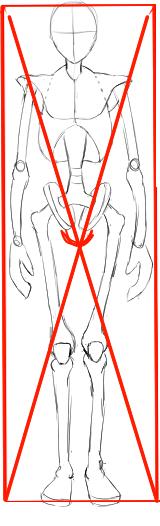 股間の位置の目安
