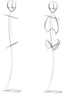 2_体重移動を考え肩と腰の上げ下げを決める