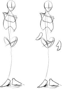 3_足と手の位置を決める