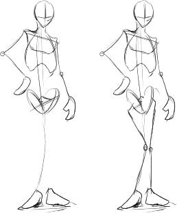 4_上半身下半身の骨を描く