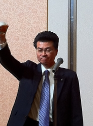 専務の乾杯