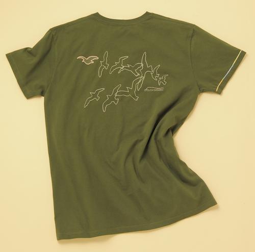 VネックTシャツ(カーキ)_バック