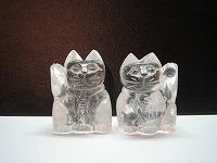 招き猫 水晶
