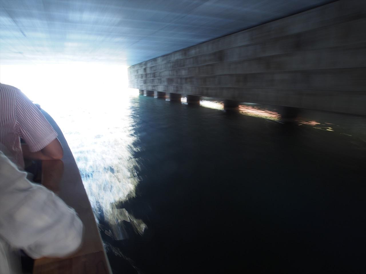 小樽運河の中央橋の下