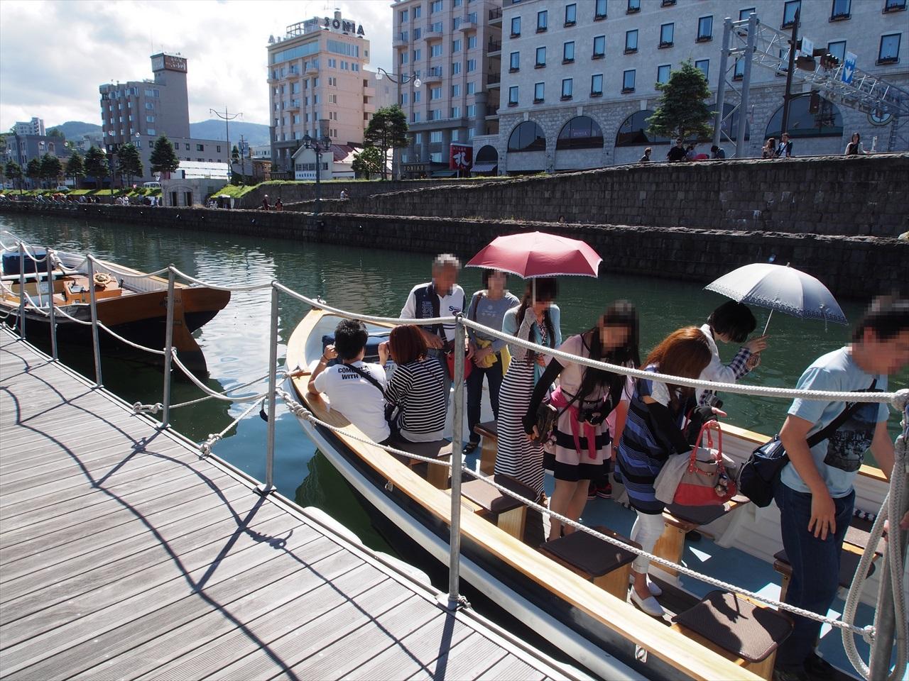 小樽運河のクルージング完了