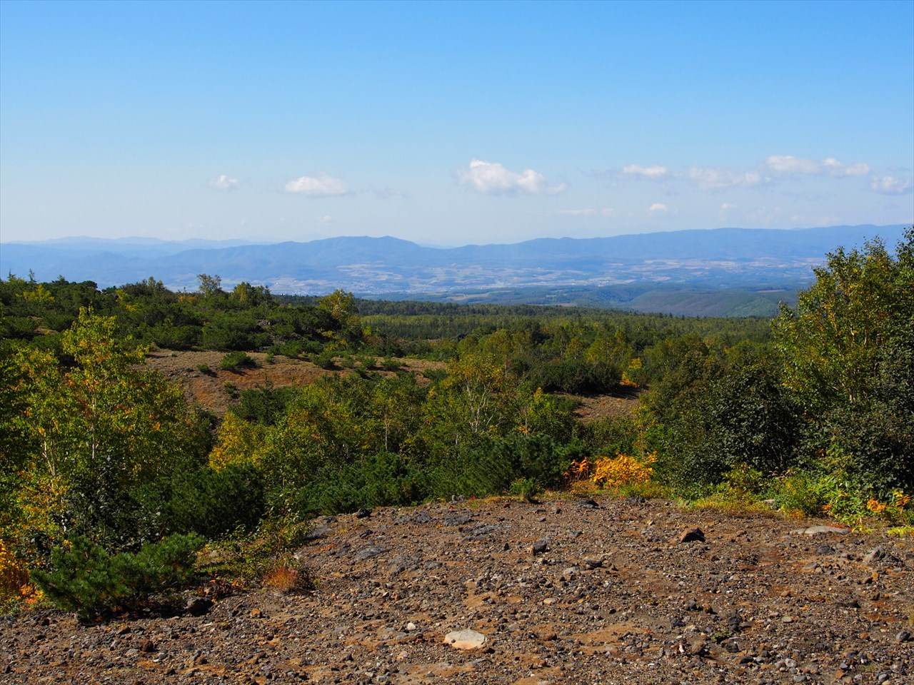 望岳台から一望した風景