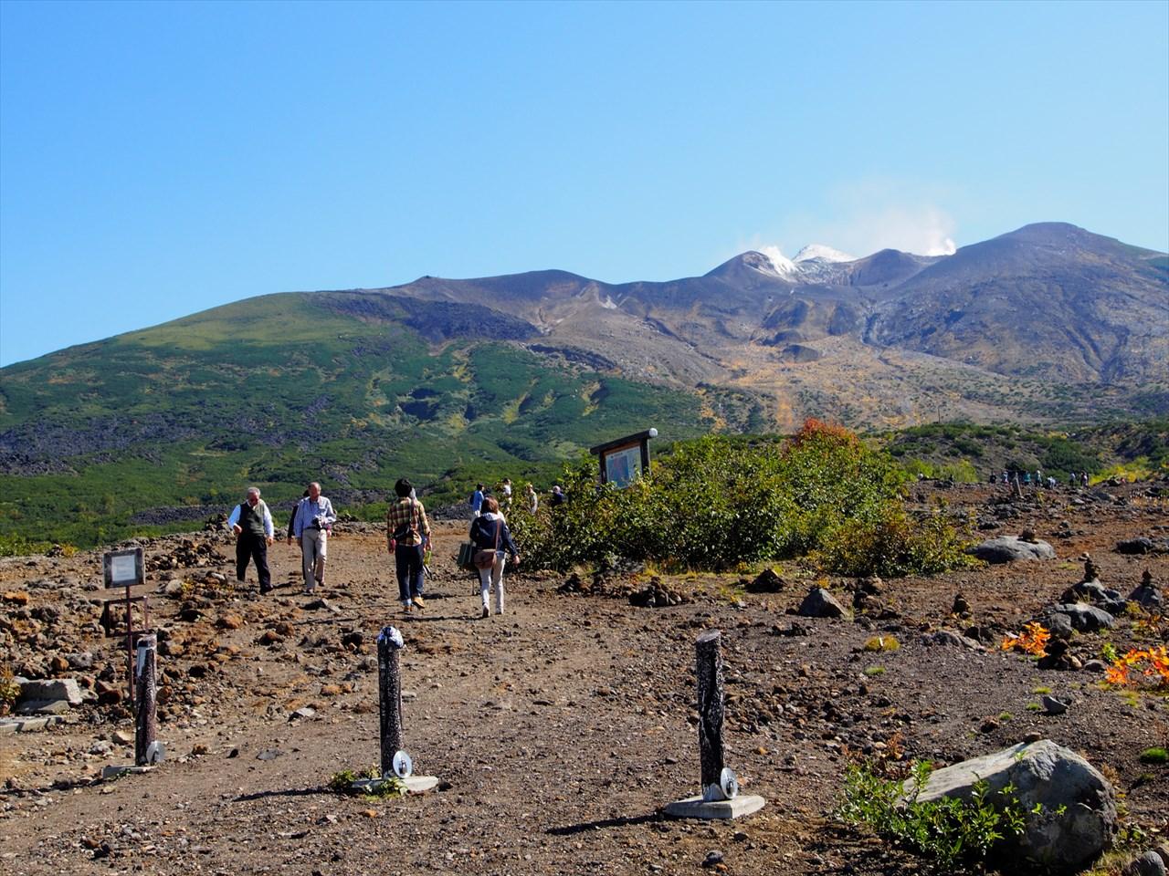十勝岳望岳台の遊歩道1