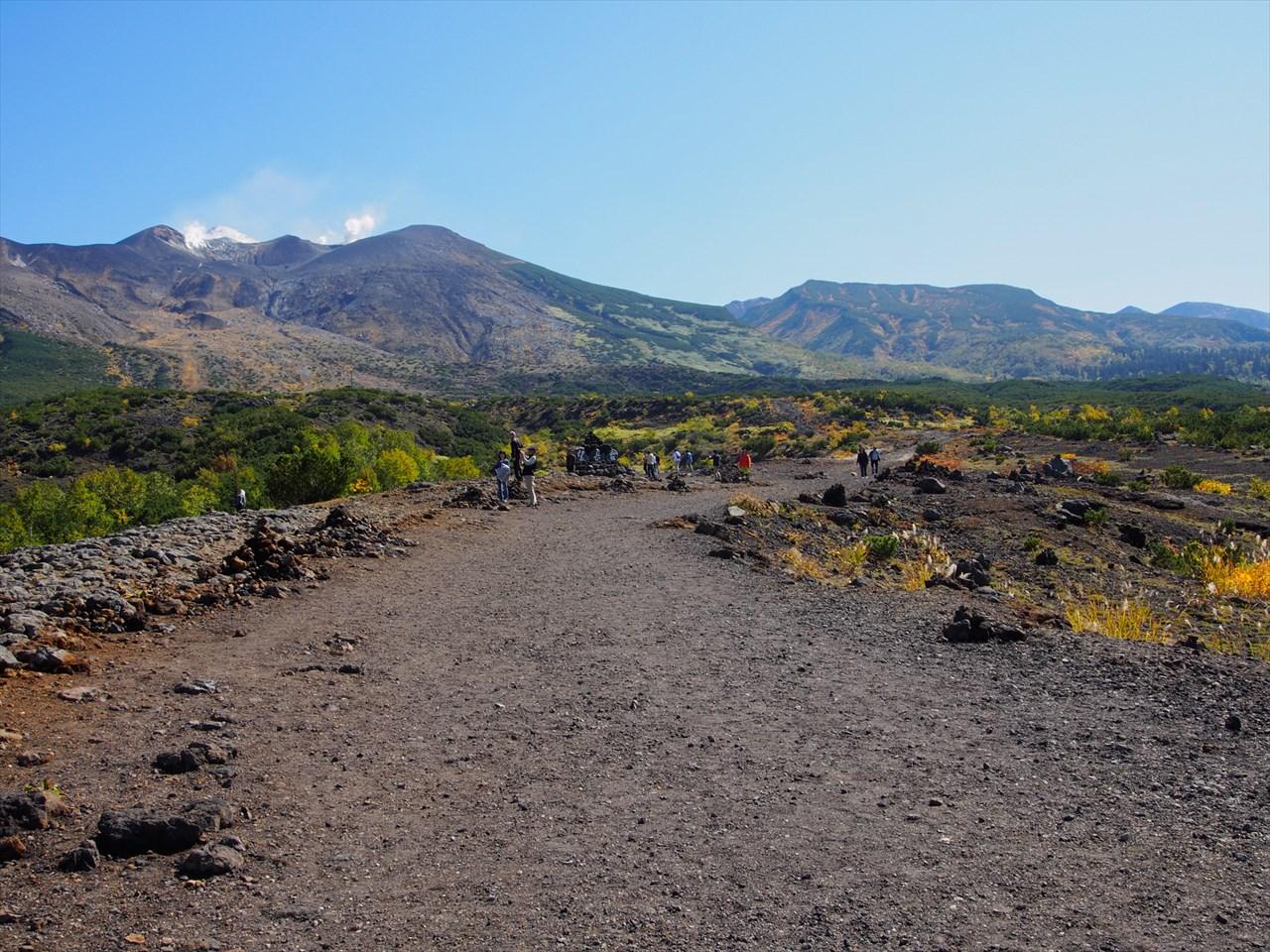 十勝岳望岳台の遊歩道2