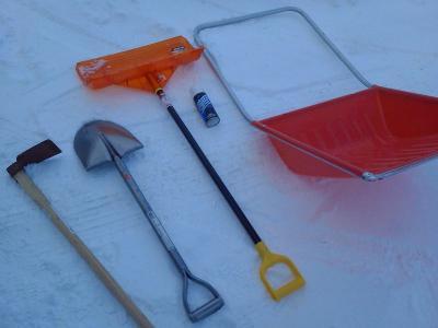 我が家の雪かき道具の一軍選手