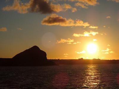 ペシ岬の夕日